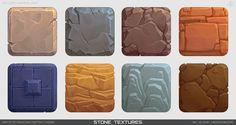 Texture practice part Alena Medovnikova Texture Drawing, Texture Art, Texture Painting, Tiles Texture, Game Ui Design, Prop Design, 2d Game Art, Game Textures, Hand Painted Textures