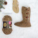 """Breckenridge"" Crochet Boots with Flip Flop Soles – PART 1"