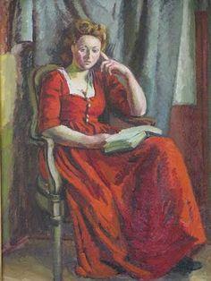 """Duncan Grant, """"Portrait of Chattie Salaman"""" by Duncan Grant  1942"""