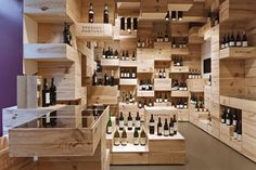 Cave à vin-Albert Reichmuth Wine Store by OOS Tasting Room, Wine Tasting, Bar A Vin, Interior Architecture, Interior Design, Wine Display, Display Ideas, Shipping Crates, Wine Case
