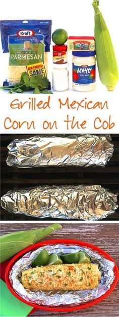 Grilled Corn on the Cob in Foil Recipes! This EASY Mexican Corn made on the gri… Grilled Corn on the Cob in Foil Recipes! This EASY Mexican Corn made on the grill is so delicious… the perfect blend of butter, spices and cheese! Summer Grilling Recipes, Summer Recipes, Healthy Dinner Recipes, Mexican Food Recipes, Cooking Recipes, Healthy Grilling, Grilling Sides, Vegetarian Grilling, Picnic Recipes