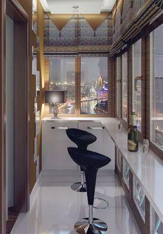 Балкон может стать романтическим местом для двоих.