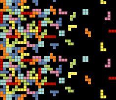 too cool    Tetris Border Print fabric by chronicallyuncool on Spoonflower - custom fabric