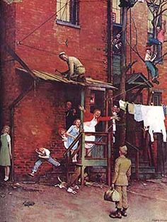 Norman Rockwell is one of my favorite artists since childhood!  I loved the stories depicted in his artwork.