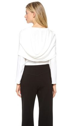 Derek Lam Long Sleeve Blouse with Draping