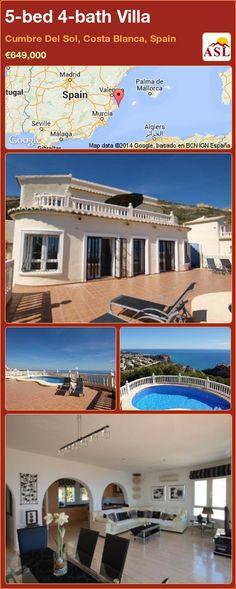 5-bed 4-bath Villa in Cumbre Del Sol, Costa Blanca, Spain ►€649,000 #PropertyForSaleInSpain