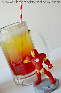 Iron Man Superhero Drink {there's Captain America too}