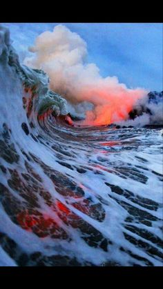 Lava Erupting Under Water Photo by C J Kale