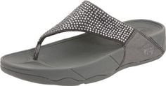 """FitFlop Women's Rokkit Flip Flop FitFlop. $59.95. Rubber sole. Heel measures approximately 1 1/2"""". Designed to tone muscles. leather. Platform measures approximately 1"""""""