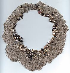 Drawn to nature: seed bead and pearl freeform necklace (downloadable project available for sale)