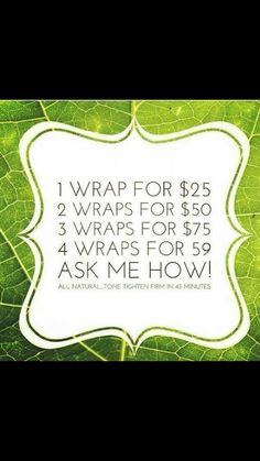 Ask me how!! Connie Rodriguez 3604807425. Www.livelaughwrapyourself.itworks.com