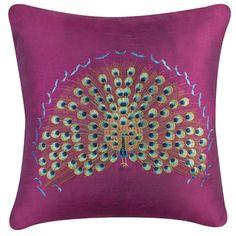 #Peacock Pillow- Deep Fuchsia $24.95