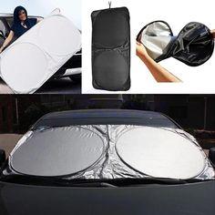 Mayitr High Quality Folding Front Rear Car Window Sun Shade Car Windshield Visor Cover Block Sunshade Cover #Affiliate