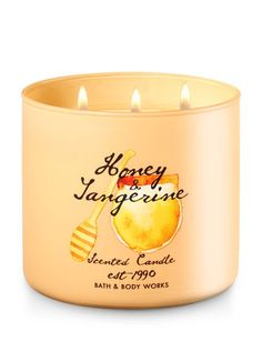 Honey Tangerine 3-Wick Candle - Bath And Body Works