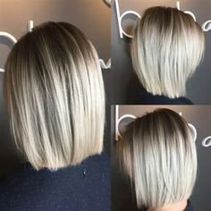 Blunt Blonde Bob A post shared by ( on Feb 2017 at PST This simple, yet oh-so-chic blonde bob combo comes to us all the way from Canada! Sarah McDonald ( a stylist at Bob and Page Salon & Blowdry Bar who specializes Ashy Blonde Balayage, Balayage Hair, Blonde Hair, Blonde Balayage Bob, Beige Blonde, Silver Blonde, Bayalage, Ash Blonde, Blonde Blunt Bob