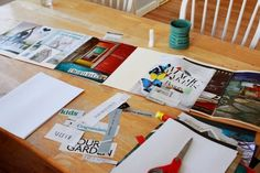 Creating a Portable Vision Board-- file folders make this work.