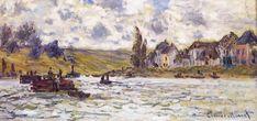 """The Village of Lavacourt"" ・ by Claude Monet ・ Completion Date: 1878 ・ Style: Impressionism ・  Genre: landscape"