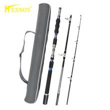 US $47.18 Hennoy 3 Section Travel Boat Fishing Rod Deep Sea Fishing Spin Rods 1.8m 1.95m 2.1m-(30-50lb test)- Heavy Power. Aliexpress product
