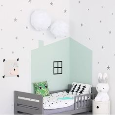 Mini Silver Stars Wall Decals Confetti by RockyMountainDecals