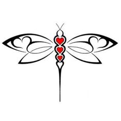 Abstract Dragonfly Tattoo Design