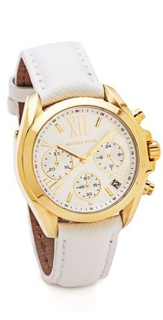 Michael Kors Leather Bradshaw Watch | SHOPBOP