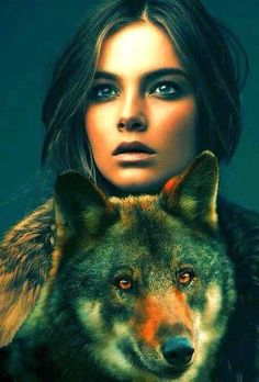 The wolf & I share a single heart, you can not keep us apart. Wolf Spirit, My Spirit Animal, Native American Women, Native American Indians, Native Indian, Native Art, Fantasy Wolf, Fantasy Art, Wolves And Women