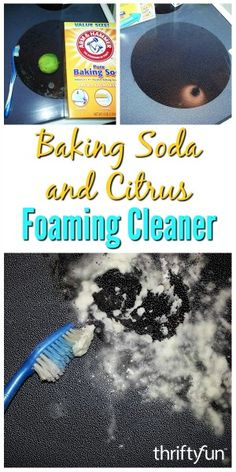 This natural foaming cleaner works great as a stove top cleaner, hard water stain remover and as a general heavy duty cleaner. Learn how to make this homemade baking soda and citrus foaming cleaner in this guide. Home Remedy Teeth Whitening, Teeth Whitening System, Iron Skillet Cleaning, Diy Cleaning Products, Cleaning Tips, Stove Top Cleaner, Clean Stove Top, Hydrogen Peroxide Uses, Teeth Bleaching
