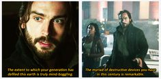 Ichabod is horrified.---->As he should be.