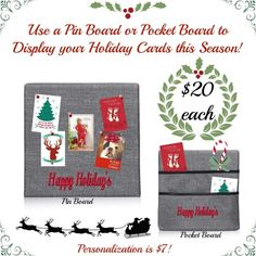 Show off your holiday cards this season with the help of our Walk Together Pin and Pocket boards!! Order yours today!! www.mythirtyone.com/1825094