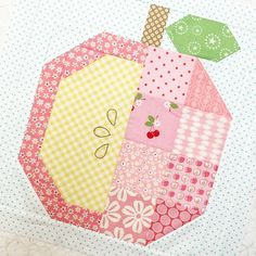 Apple Picking blocks in pink! #beeinmybonnet #farmgirlvintage #applepickingblock