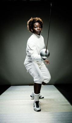 Maya Lawrence - fencing epee for USA in the Olympics. Bronze Medal winner at London 2012.