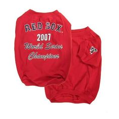 Boston Red Sox 2007 World Series Champ Dog Puppy Shirt SMALL Officially Licensed