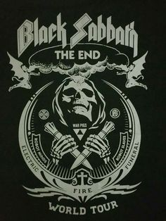 Art Black Sabbath The End World Tour Ozzy Osbourne Pop Poster Hot Gift 36 Arte Heavy Metal, Heavy Metal Music, Heavy Metal Bands, Rock Posters, Band Posters, Hard Rock, Black Sabbath The End, Black Sabbath Tour, Arte Pink Floyd