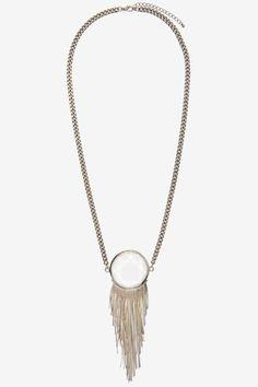Silver Peacock Pendant Necklace