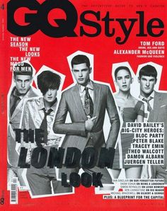 Sean O'Pry on the cover of GQ Style, S/S 2007.