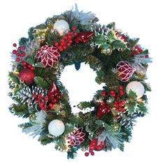 """Decorated Christmas Wreath 