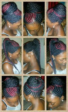 Outstanding Ghana Braids Buns And Ghana On Pinterest Hairstyles For Women Draintrainus