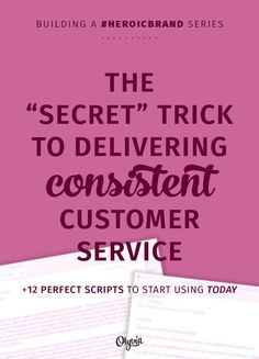"The ""secret"" to delivering consistent customer service online, quickly + easily. This trick is used by politicians + successful companies to wow people EVERY time -- and it's ideal for busy solo business owners, too! Implement it and you'll be better at giving people the customer experience they hope for with your biz."