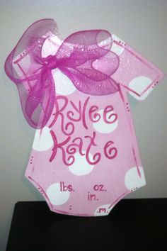 New Baby Hospital Door Hanger by WoodenWhimsys on Etsy, $30.00