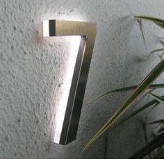 svelte backlit house numbers