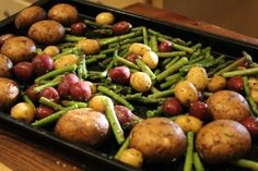 Around the Table with Tami: Roasted Asparagus, Mushrooms and Baby Potatoes