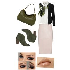 A fashion look from February 2015 featuring Elle Sasson blouses, Topshop blazers and Reiss skirts. Browse and shop related looks.