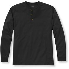 L.L.Bean Carefree Unshrinkable Tee, Traditional Fit Long-Sleeve Henley... ($34) ❤ liked on Polyvore featuring men's fashion, men's clothing, men's shirts, men's t-shirts, wrinkle free mens shirts, mens t shirts, mens straight hem shirts, mens tall shirts and mens long sleeve henley t shirt