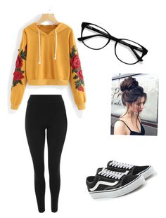 """ART HOE-ish"" by haileymagana on Polyvore featuring Topshop, Vans and EyeBuyDirect.com"