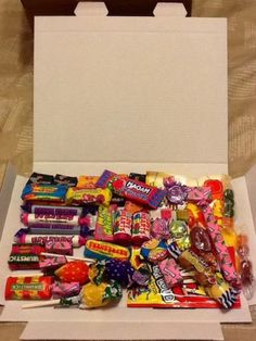 Retro-Sweet-Hamper-letter-box-friendly-packed-with-classic-favourites-FREE-P-P Retro Sweet Hampers, Paradise, Sweets, Candy, Lettering, Box, Classic, Christmas, Free