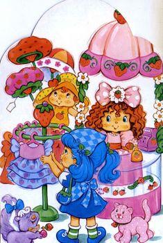 Strawberry Shortcake and Friends Strawberry Shortcake Characters, Vintage Strawberry Shortcake Dolls, Raspberry Torte, Strawberry Blueberry, Anime Pixel Art, Decoupage, Vintage Cartoon, Kids Shows, Retro Toys