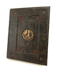 Navigation book. Logbook. Leather Sketchbook.