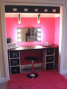51 makeup vanity table ideas ultimate home ideas cc favorites would have looked amazing in old house with built in wardrobs solutioingenieria Image collections