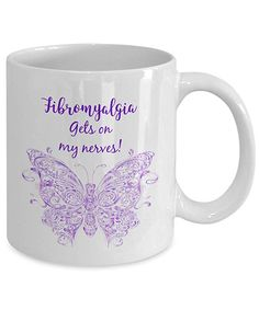 Fibromyalgia Purple Butterfly Awareness Mugs Inspirational Freedom Warrior Cure Beating Birthday Items Stuff Gifts For