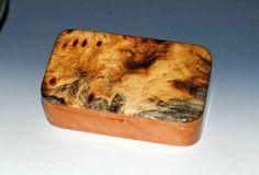 Handmade Wood Treasure Box - Cherry with Buckeye Burl - Jewelry Box Trinket Box Gift Presentation Box Wooden Box Keepsake Box Wood Box by BurlWoodBox